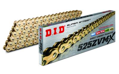 Łańcuch napędowy DID525ZVMX G&G-118 BMW S 1000 Honda CB 600