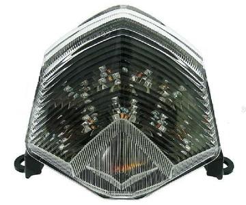Lampa tylna z kierunkowskazami LED biała Kawasaki Z 750 1000 ZX 10R 6R