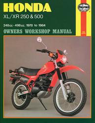 Instrukcja serwisowa Honda XL 250 500 XR 250 500