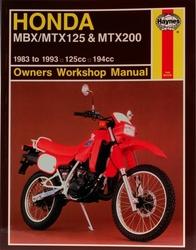 Instrukcja serwisowa Honda MBX 125 MTX 125 200