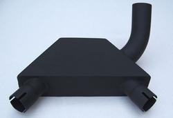 Kolektor wydechowy czarny BMW R 80 GS 87-95