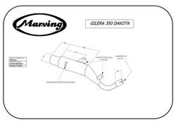 Tłumik czarny Gilera Dakota 350 85-89