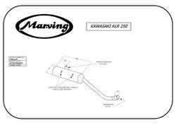Tłumik czarny Kawasaki KLR 250 (KL 250) 84-05