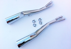 Tłumiki chrom Suzuki GSX 550 E 83-87