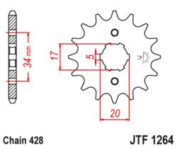 Zębatka przód 16Z JTF1264.16