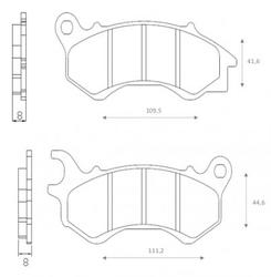 Klocki hamulcowe przód FT3130 Honda SH 125 PCX 125 Peugeot Django 50 125