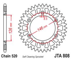 Zębatka tylna - aluminiowa 51Z JTA808.51