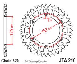 Zębatka tylna aluminiowa 49Z JTA210.49 Beta RR 250 300 CR 250 500 CRF 250