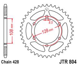 Zębatka tylna 45Z JTR804.45 Suzuki TS 125 84