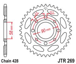 Zębatka tylna 49Z JTR269.49 Honda XL 185 S 79-83