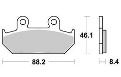 Klocki hamulcowe przód S1005A Honda CBR 1000 F 87-88 VFR 750 F 86-87