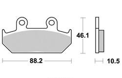 Klocki hamulcowe przód S1005B Cagiva Elefant 750 Honda NX 650 VT 600