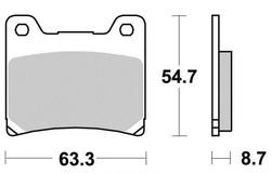 Klocki hamulcowe - standard (typ GG) - przód - firmy Kyoto