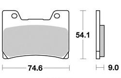 Klocki hamulcowe przód S1034 YamahaFZR 600 1000 TDM 850 VMX 1200