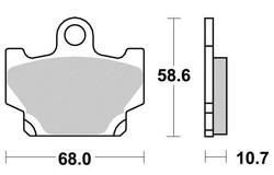 Klocki hamulcowe przód Yamaha RD 80 125 350 SR 125 XT 600 XV 250