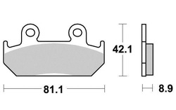 Klocki hamulcowe przód Honda CB 350 450 CBR 60 XRV 750