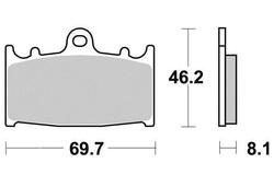 Klocki hamulcowe prawy przód Kawasaki KLZ 1000 VN 1700 2000 ZR 1100