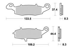 Klocki hamulcowe - standard (typ GG) - prawy przód - firmy Kyoto