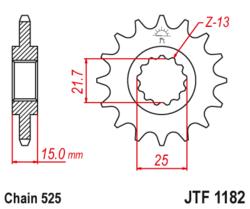Zębatka przód 13Z JTF1182.13