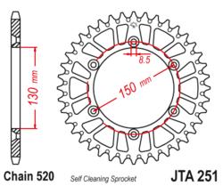 Zębatka tylna - aluminiowa 52Z JTA251.52